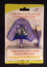 USB PS2 Player Controller Converter for PC Windows 98/me/2000/vista/xp/7 New