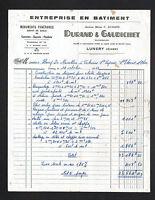 """LUNERY (18) TRAVAUX PUBLICS & BATIMENT """"DURAND & GAUDICHET"""" en 1953"""