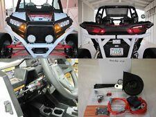 Street Legal Kit 08-15 Polaris RZR LED Turn Signals Horn License Plate Bracket