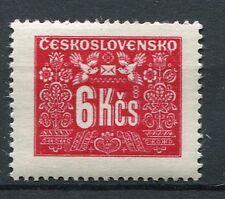 TCHECOSLOVAQUIE - 1946-48, timbre TAXE 78, FLEURS, OISEAUX, neuf**