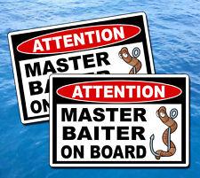 Master Baiter Fishing Sticker Decal Fisherman Fish Boating Boat Bait Graphic Oem
