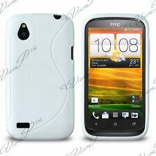 CASE COVER TPU S SILICONE GEL WHITE + FILM FOR HTC DESIRE X