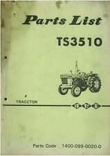 Iseki Tractor TS3510 Parts Manual