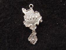 Sark Kanalinseln Vintage Sterling Silber Charm Form der Insel durch T L Mott