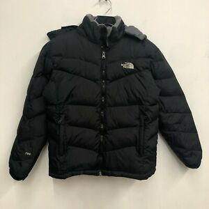 The North Face Black 700 Down Filled Puffer Ski Jacket Womens SZ L Bubble G1