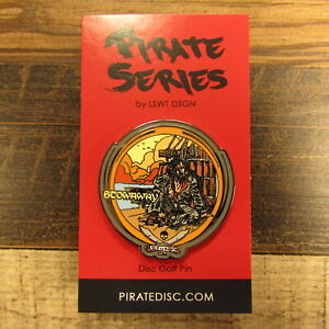 Les White Pirate Series Disc Golf Pin Stowaway Pirate LSWT DSGN