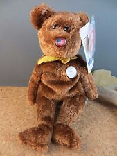 2002 Ty Beanie Babies Baby FIFA World Cup American Flag Nose Teddy Bear #112