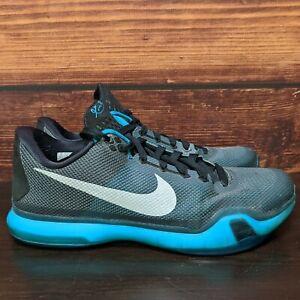 """Nike Kobe 10 X Bryant """"Liberty"""" Men's 11 black emerald silver shoes (705317-002)"""