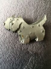 Signed Double Scottie Dog Brooch