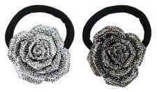 Accessoires de coiffure noir en caoutchouc pour femme