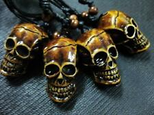10 PCS Tibet style Gothic hell Skull Head Necklace Adjustable Rope Gift