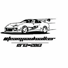 TEAM PAUL WALKER NOVELTY CAR BIKE VAN VINYL DECAL STICKER 10x19cm aprox