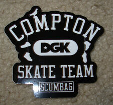 "DGK SCUMBAG Skate Sticker Compton Team 3 X 2.75"" skateboards helmets decal"