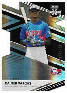 2020 Elite Extra Edition Rainer Vargas Rookie Decade Die Cut Dominican #111/999