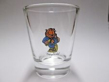 GAARFIELD THE CAT EATING A HOAGIE ON CLEAR  SHOT GLASS