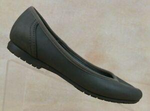 Crocs Marin ColorLite Dark Brown Ballet Flat Shoes 201581 Women's 7.5