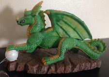 "Age Of Magic Penn Plax Green Winged Dragon Figure Figurine 7.5"" x 4 3/4"""
