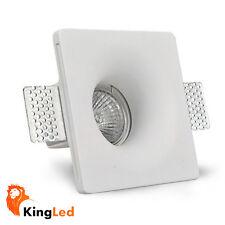 KingLed® Faretto Incasso Gesso Quadrato 120x120 Soft Scomparsa H45 GU10 1426