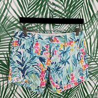 """Lilly Pulitzer 5"""" Callahan Shorts Serene Blue Tippy Top Women's Size 2 NWT"""