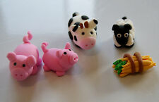FARM ANIMALS EDIBLE 3D X 6 PIECES - YOU CHOOSE FROM PIGS, COWS, SHEEP & HAY
