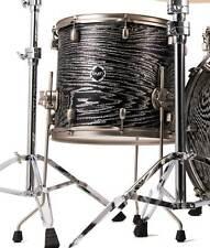 "Crush Drums Sublime AXM 18"" Floor Tom/Trans Satin Black w/ Silver Sparkle/#207"
