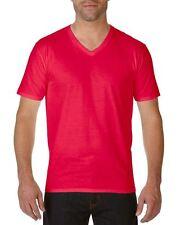 Gildan Algodón Premium Adulto Cuello en V Camiseta - Hombre Informal Suéter -