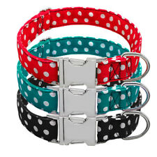 Adjustable Nylon Pet Dog Collar with Metal Buckle for Puppy Labrador Pit Bull