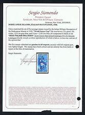 DODECANESE ISLANDS ITALIAN OCCUPATION SCOTT 31-35 SASSONE 75-79 SISMONDO CERT