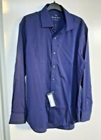 Men's The Savile Row Company Dress Shirt Size 17 Blue England 100 % Cotton
