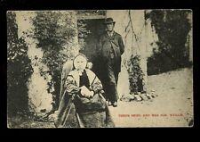 Scotland TIBBIE SHIEL and son Wullie 1930 PPC by A R Edwards Selkirk