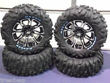 "26"" POLARIS XP850 BIGHORN RADIAL RWL ATV TIRE & 14"" WHEEL KIT SS3 COMPLETE"