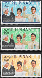 Philippines 1965 - Swearing in of President Marcos - set of 3 x stamps - MNH