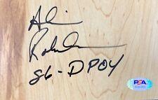 Alvin Robertson signed inscribed floor board NBA San Antonio Spurs PSA COA