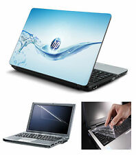 Laptop Skin HP Water with Screen Guard and Key Board Protector (3in1 Combo)15.6""