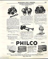 1941 ADVERT Sparton Electric Car Auto Automobile Horns Air Tone Powertone Shell