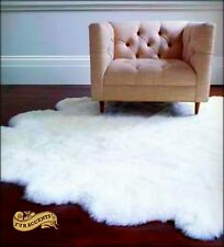 Shag Rug Faux Fur Sheepskin White Nursery Living Room Den Shaggy Sheep Throw Big