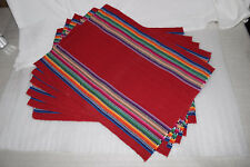 Handmade Place mats from Guatemala! Set of 6 with napkins! 1 of 4 LOVELY COLORS