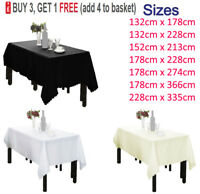 Rectangle Polyester Tablecloth Table Cloth Cover Wedding Party Picnics Tableware