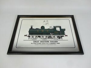 Great Western Railway No. 5764 0-6-0 Pannier Tank Train Mirror Collett 5700 RARE