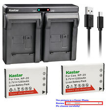Kastar Battery Dual Charger for Casio NP-20 Battery Casio BC-11L BC-31L Charger