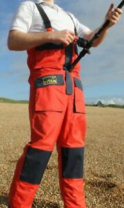 TITAN EXEAT 25 Breathable Waterproof Fishing Salopettes Bib & Brace Trousers NEW