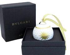 NEW AUTHENTIC BVLGARI Rosenthal Christmas Ornament Ball Charm Porcelain/Gold