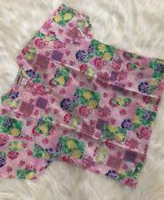 SCRUBLAND Women's Medical Nurse Uniform Scrub Top Pink Floral - Size L