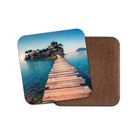 Cameo Island Bridge Coaster - Zakynthos Greece Holiday Ocean Travel Gift #14924