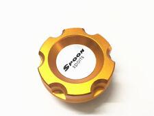 1Pcs Car Aluminum Gold Spoon Engine Oil Cap Filler Tank Cover W/ For EG6 EK9 FA5