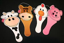 Farm Animal Paddleballs for parties Loot bags/Party favours or stocking fillers