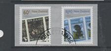 New Zealand 2010 Christmas Self adhesives pair fine used set stamps