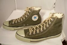 Vintage Converse All Star Gray Canvas Tennis Shoes Men Size 12 Made In USA