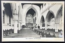 STAMFORD All Saints Chuch POSTCARD Real Photo LINCOLNSHIRE Unposted 241