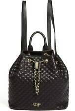 NEW Guess Cleo Black Quilted Chain Backpack Bucket Bag Handbag